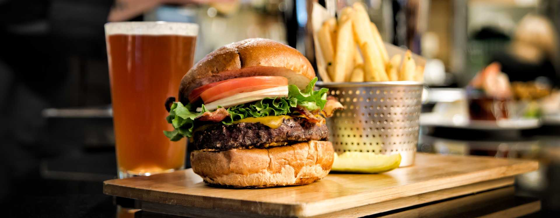 Delicious Burgers at DoubleTree by Hilton Hotel Seattle Airport