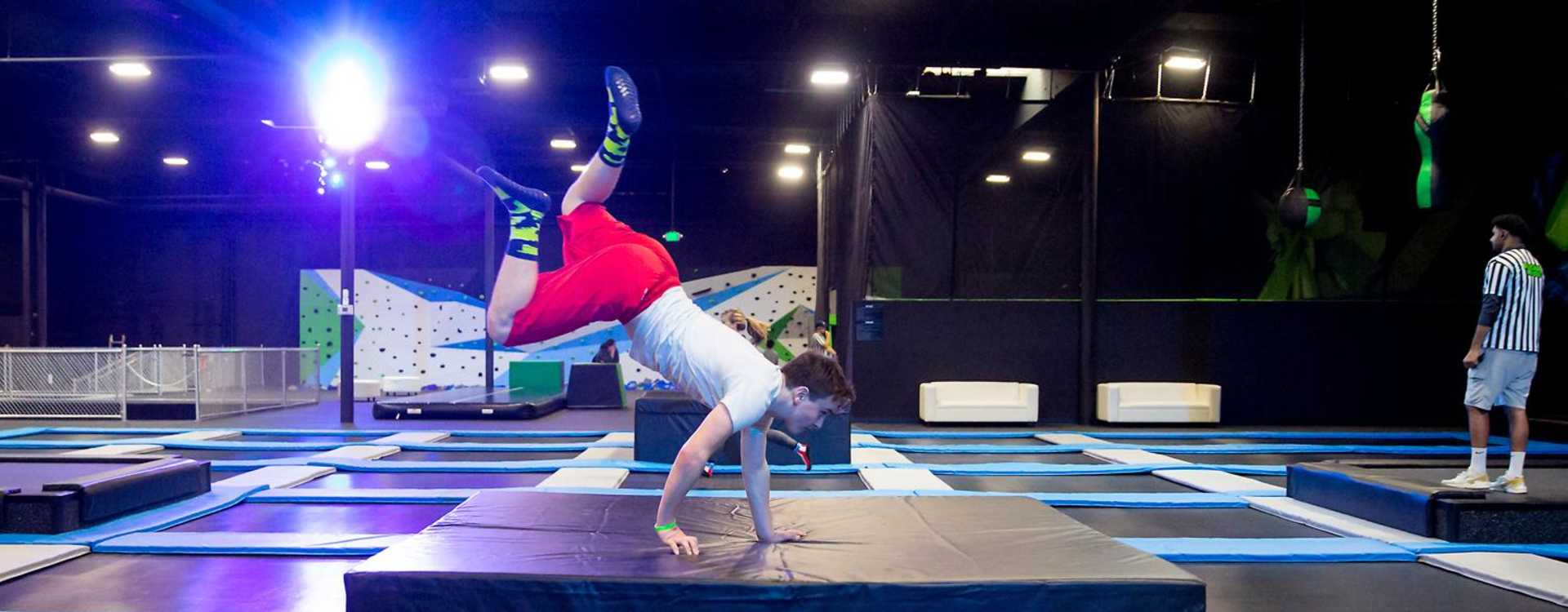 Trampolines and Handstand
