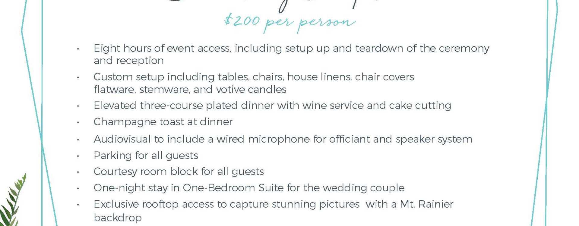 Hotel Interurban Celebrate Small Something Complete Wedding