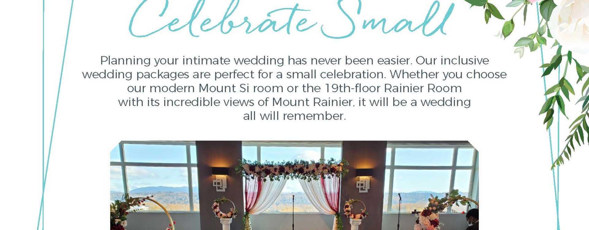 Hotel Interurban Celebrate Small Something Sweet Wedding