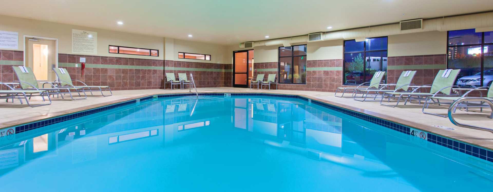Pool at Hampton Inn & Suites Seattle Airport
