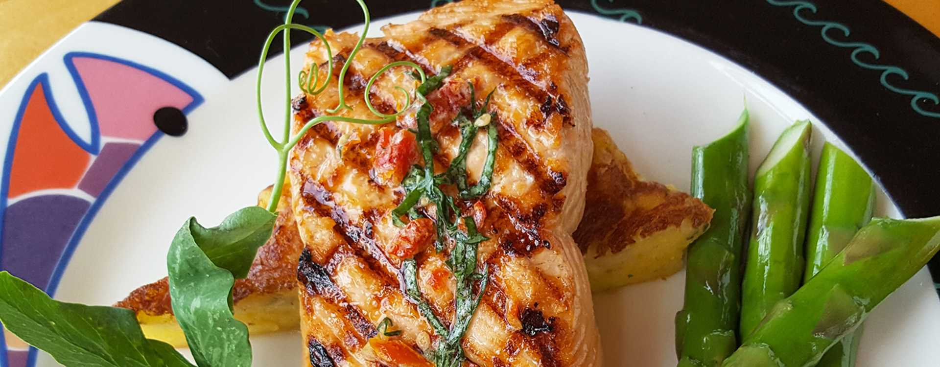 Wild Salmon with Sundried Tomato and Basil Butter