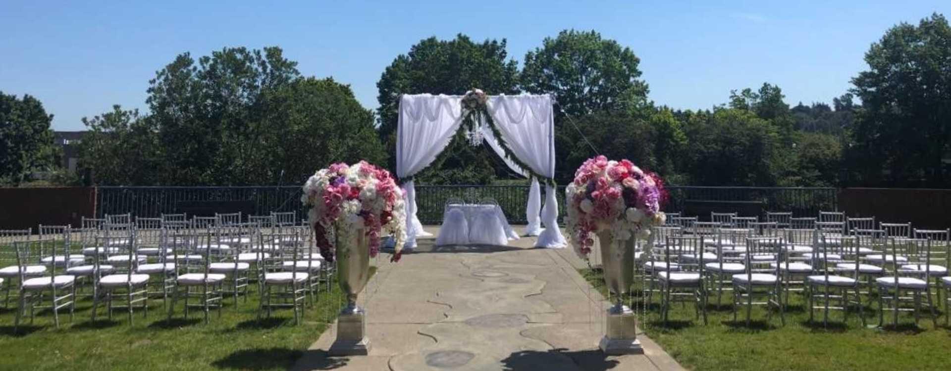 Outdoor Wedding at Tukwila Community Center