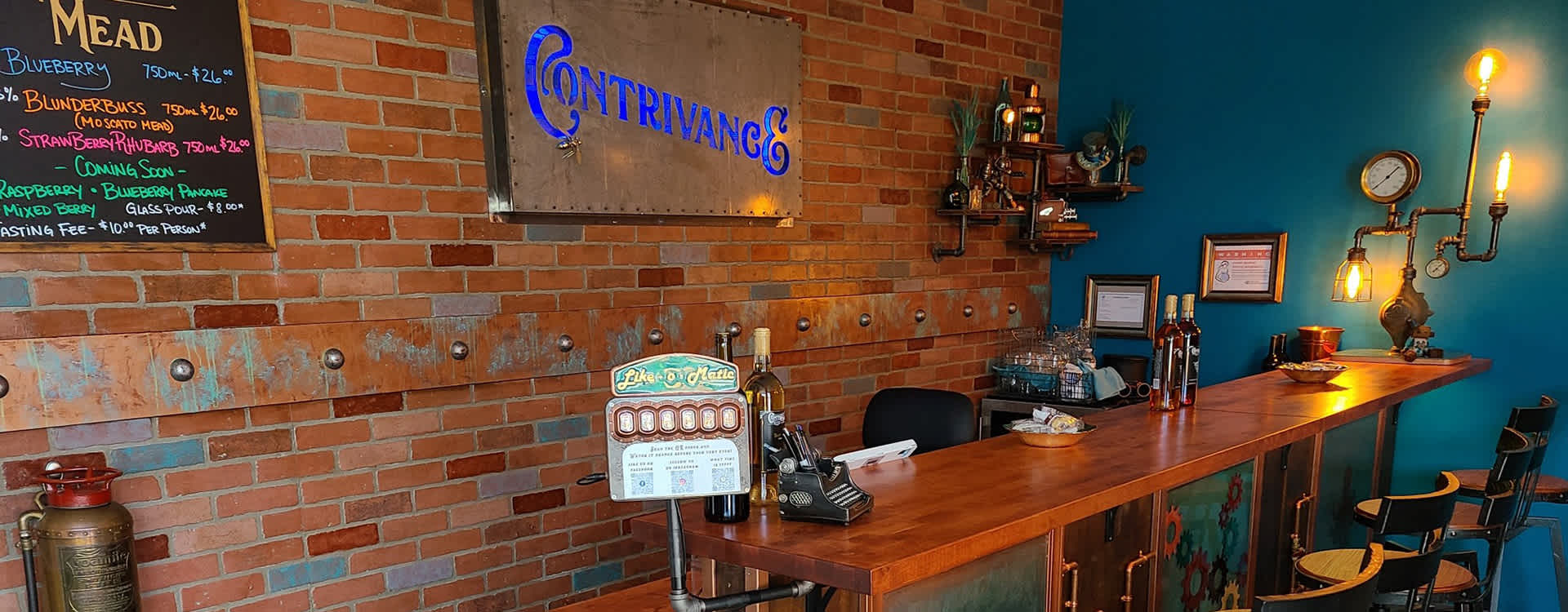 The Contrivance Meadery Tasting Room