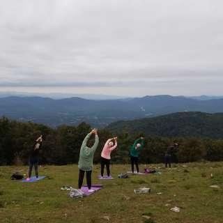 Mountaintop Sunset Yoga Hike