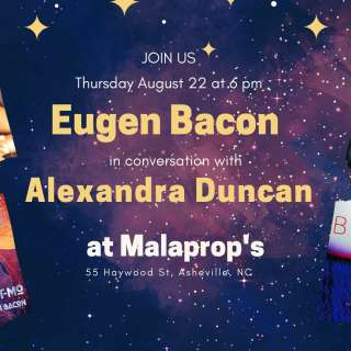 Eugen Bacon in conversation with Alexandra Duncan at Malaprop's