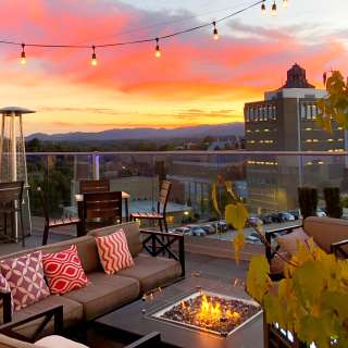 Asheville Sunsets From the Rooftops