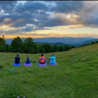 Sunset Mountaintop Yoga Hike