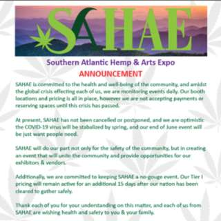 RESCHEDULED: Southern Atlantic Hemp & Arts Expo - SAHAE