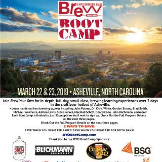 Brew Your Own magazine Boot Camp Asheville