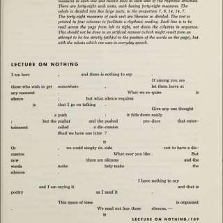 Kay Larsen: John Cage's Lectures on Nothing
