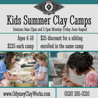 Ready…Center…Throw! Clay Camp Ages 8-12