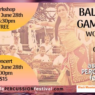 Balinese Gamelan Workshop and Concert