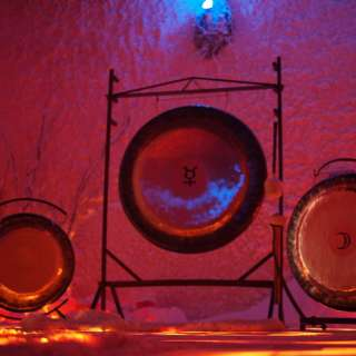 Gong Sound Meditation in our Himalayan Salt Therapy Cave at The Salt Spa of Asheville