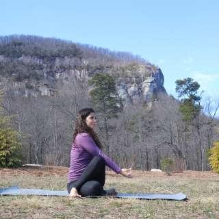 "Chimney Rock - Full Moon Series: Yoga under the Full ""Strawberry"" Moon"