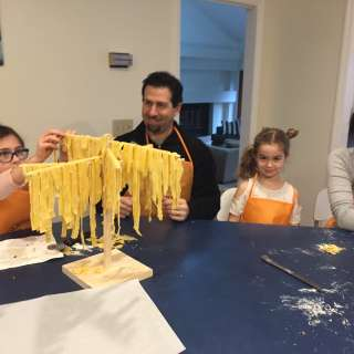 Father's day pasta making