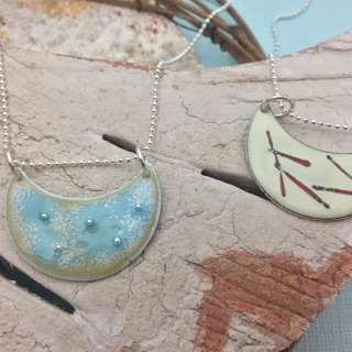 Enameled Pendant + Earrings Workshop