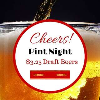 Trivia and Pint Night! $3.25 Draft Beers