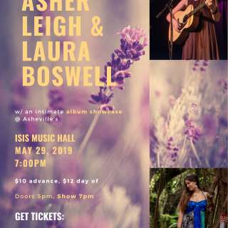 Asher Leigh and Laura Boswell at Isis Music Hall