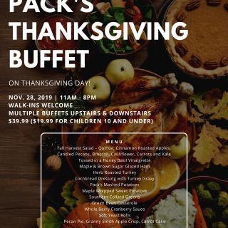 Pack's Tavern Thanksgiving Buffet