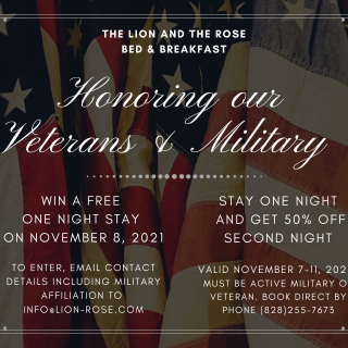 Military Appreciation Specials Honoring our Veterans and Military