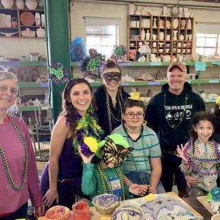Mardi Gras Masquerade Clay Workshop