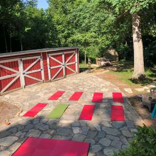 Outdoor Yoga Wednesdays at the Caboose