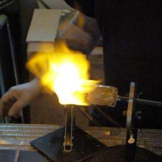 Blown Glass demonstrations with Andrew Montrie