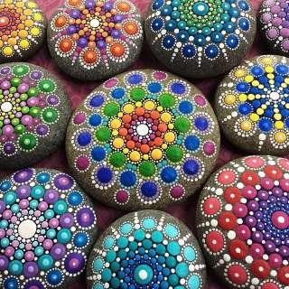 Intro to Mandala rock painting with JLArt