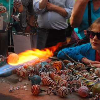 Live Glassblowing Demos - Handcrafted Christmas Ornaments
