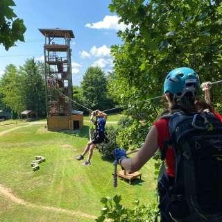30% off Adventure Center Combo Pass to Zipline and climb Treetops Park