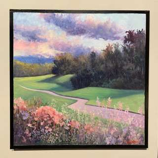 Small Landscape Oil Painting with Susan Meyer Sinyai