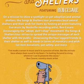 Songs & Shelters Tour feat. Ben Cesare