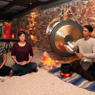 Sound Healing inside the Salt Cave