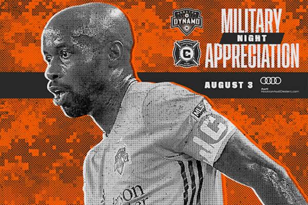 Houston Dynamo vs. Chicago - Military Appreciation