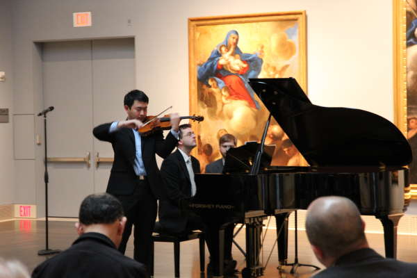 Violinist Boson Mo and pianist Andrew Staupe