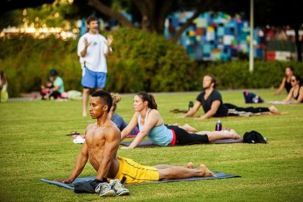 Hatha Yoga at Discovery Green