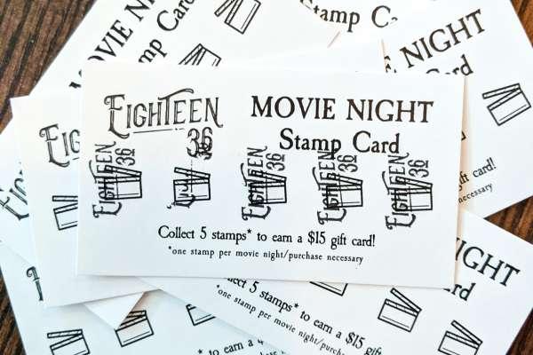 Movie Night at Eighteen36