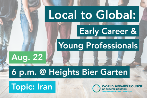 Local to Global Mixer - Early Career Professionals: Iran