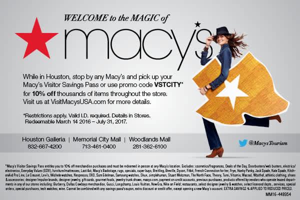 10% Off with Macy's Savings Pass