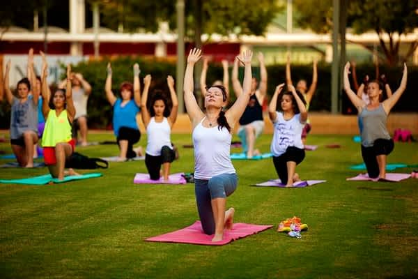Yoga at Discovery Green