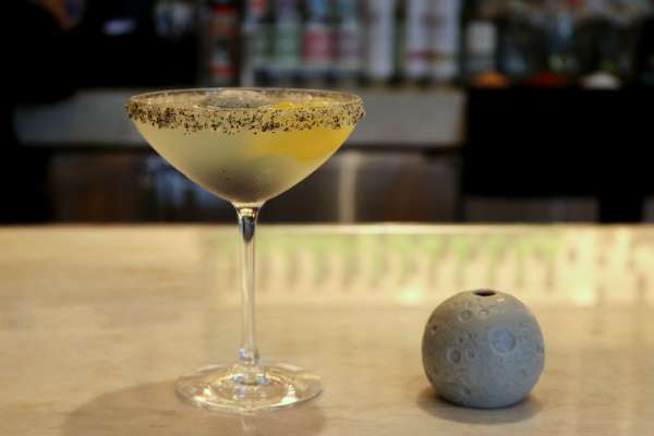 Celebrate at Xochi - Moon Rock dessert and Tranquility Base Margarita