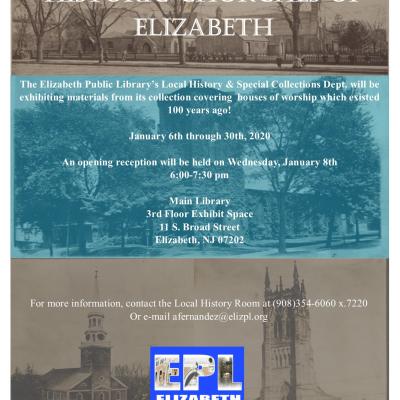 Historic Churches of Elizabeth Exhibit