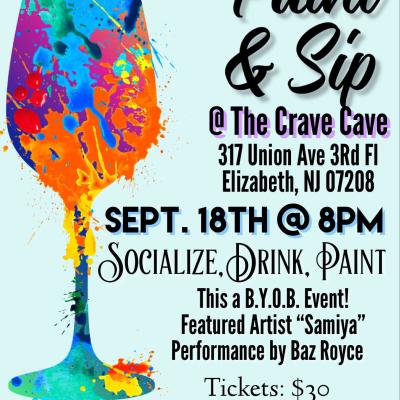 Paint & Sip @ The Crave Cave