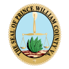 The Seal of Prince William County VA, a gold scale above a green plant