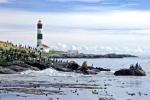 Lighthouse at Race Rocks at entrance of the Strait of Juan de Fuca