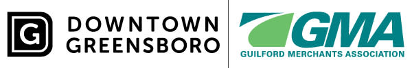 Downtown Greensboro Logo & Gulford Mershants Association Logo