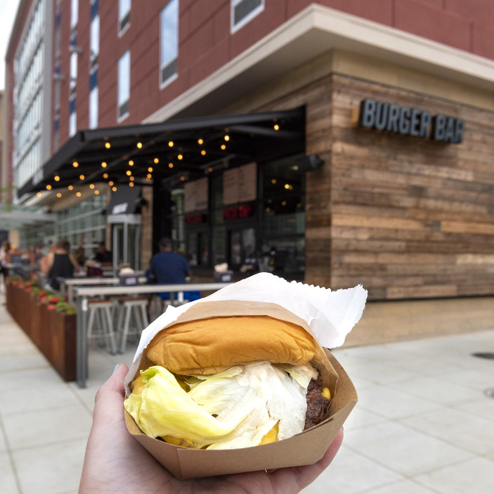 Cheeseburger at Burger Bar in downtown Fort Wayne