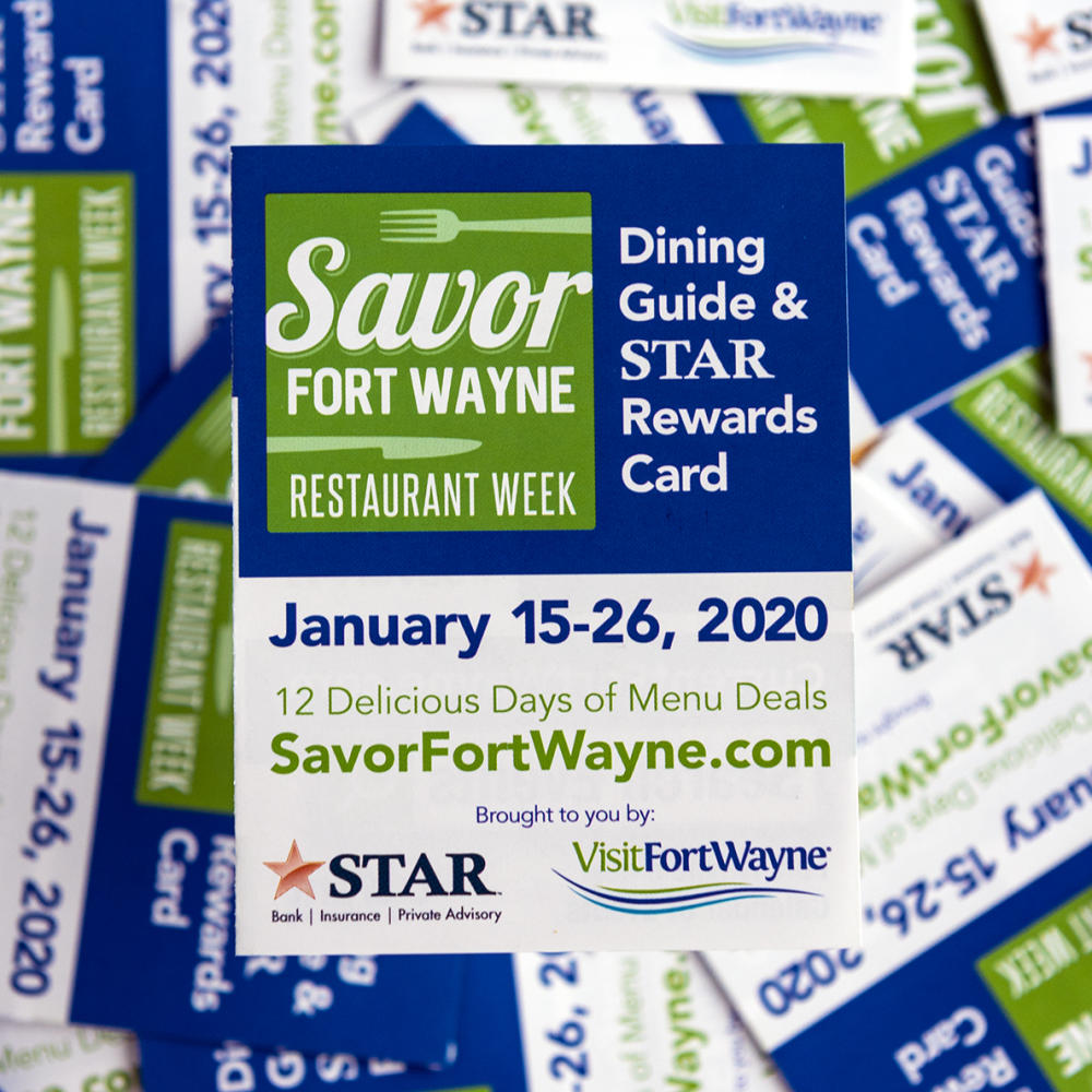 Savor Fort Wayne 2020 STAR Rewards Card