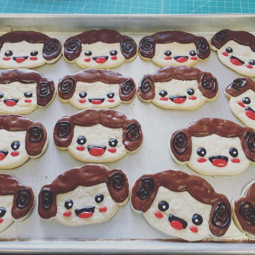 Tray of Star Wars cookies at Sweets So Geek in Fort Wayne